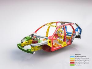 205097 The new Volvo XC60 Body structure with text