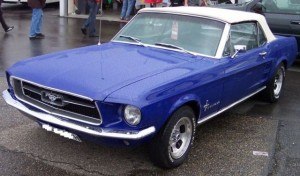 Ford Mustang 1967 blue vl